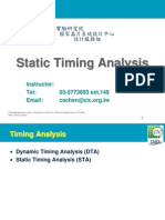 Chapter 5 Static Timing Analysis