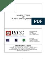 IVCC Major Equipment List