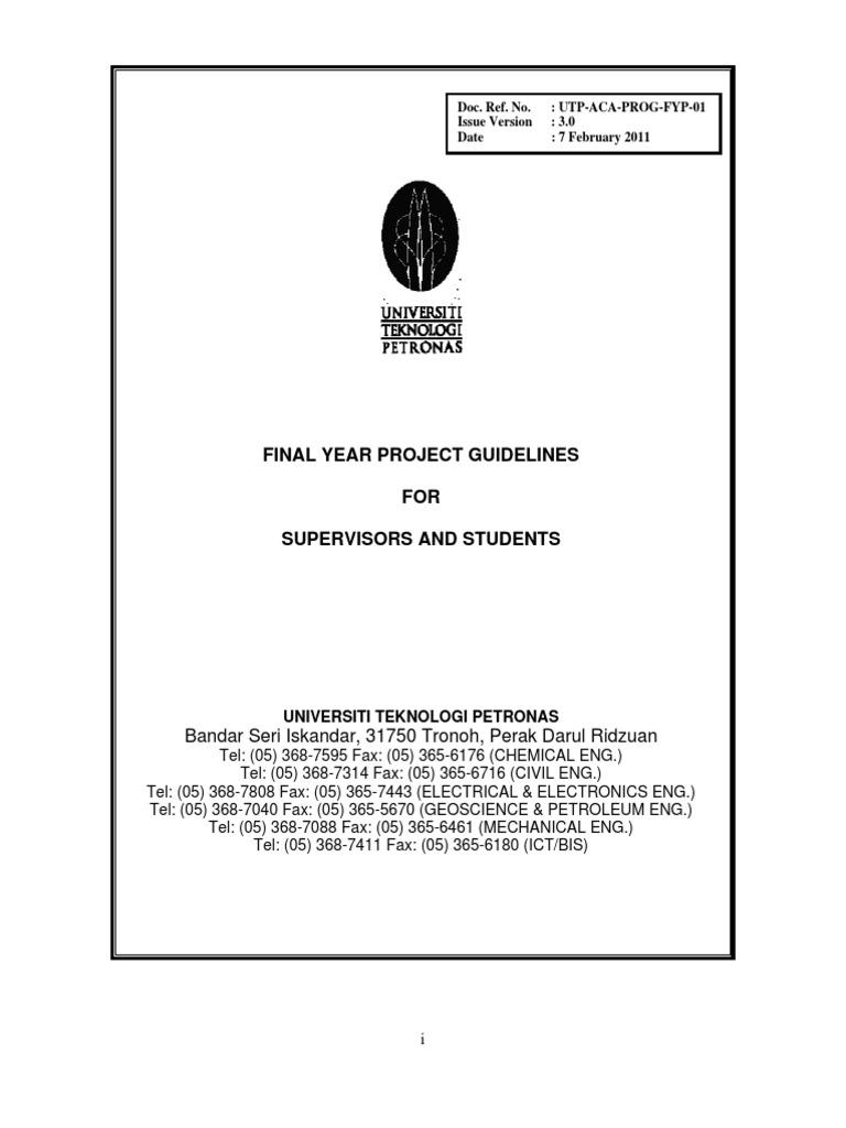 Fyp guidelines 2011 thesis plagiarism buycottarizona