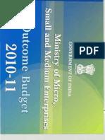 Outcome Budget MSME 2010 11