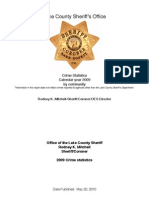 Lake County Sheriff's 2009 Crime Stats