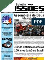 Boletim missões em nossas mãos - julho 2011 edição especial
