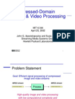 Lecture3 Compressed Domain Video Processing