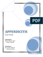 Appendicitis Case Study