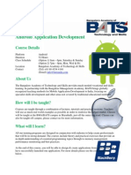 Android Application Development Course Syllabus