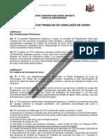 REGULAMENTO DO TRABALHO DE CONCLUSÃO DE CURSO