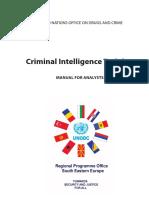 Criminal Intelligence Training - UN Analyst Manual