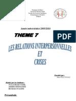 Relations Inter Personnel Les Et Crises