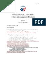 Peace Corps Privacy Impact Telecommunications