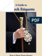 Church Etiquette Booklet