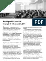 Articol Nexus Retrospectiva Curs IAC 2007