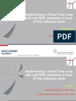 Implementazione di una Virtual Time Scale in LabVIEW realizzando un clock di riferimento atomico locale UTC(k)
