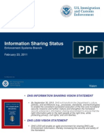 DHS/ICE (ICEPIC) Information Sharing Status