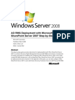 AD RMS Deployment With Microsoft Office Share Point Server 2007 Step-By-Step Guide
