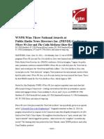WNPR Honored With Three Natl Awards From PRNDI