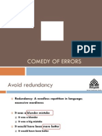 To Correct the Common English Errors