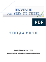 Programme Prix de These 2009 & 2010