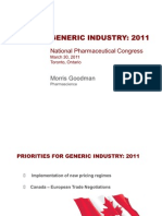 Key issues that keep the Canadian Generic Association members awake