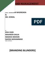 Brand Blunders
