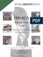 convocatoriadelospremioscobreenlaarquitectura2009
