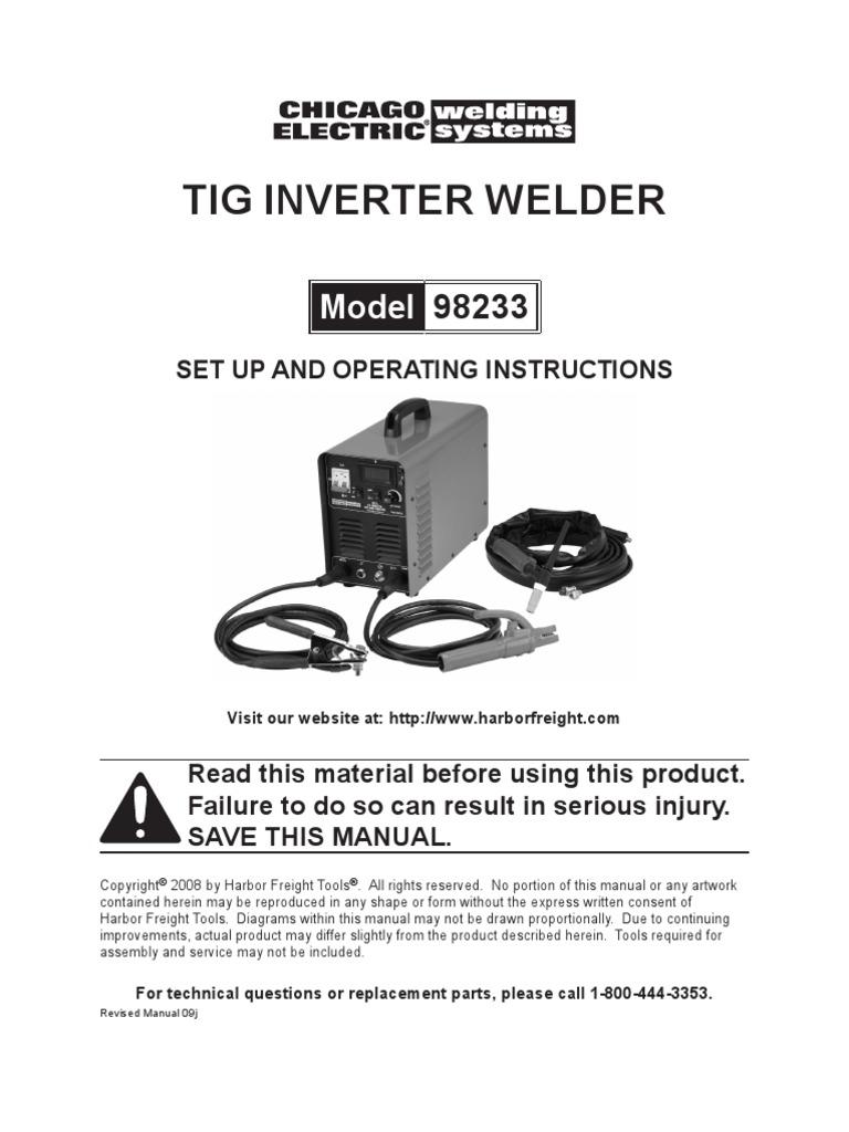 Harbor Freight Tig Welder 98233 Welding Ac Power Plugs And Sockets Arc Diagram Homemade Inverter