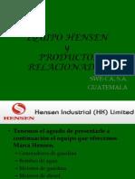 Equipo Hensen y Productos dos Mk