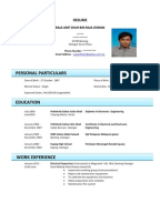 Contoh CV Bahasa Inggris    Contoh Application Letter CV Bahasa Inggris
