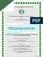 Distribution des Anophèles Nili et Anophèles Moucheti au sud du Cameroun