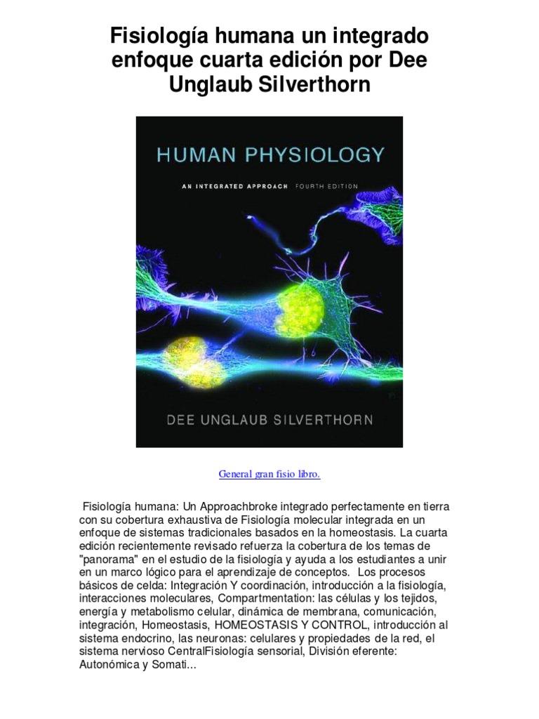 Fisiología humana un integrado enfoque cuarta edición por Dee ...