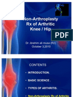 Non-Arthroplasty Rx of Arthritic Knee