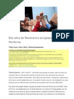 110627 Dos Anos de Lucha Antigolpista en Honduras