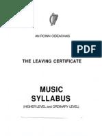Leaving Certificate Music Syllabus