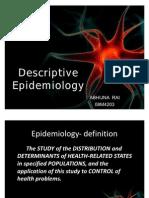 My Descriptive Epidemiology