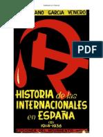 Historia de Las Internacionales en Espana Tomo 2 1914 1936