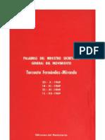 Palabras Del Ministro Secret a Rio General Del Movimiento Torcuato Fernandez Miranda 1969
