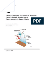 Launch Conditions Deviations of Reusable Vehicle