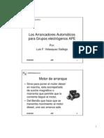 Los Arrancadores Automáticos para grupos electrogenos APE