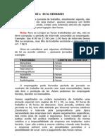 HORARIOS DFE TRABALHO