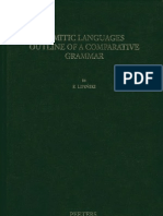 Lipinski-Semitic Languages- Outline of a Comparative Grammar