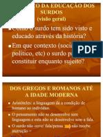 HISTÓRICO DA ED DE SURDOS