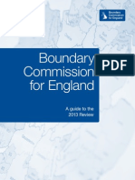 Boundary Commission for England - Guide to the 2013 Constituency Boundaries Review