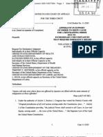 PURPURA v SEBELIUS (THIRD CIRCUIT) - MOTION filed by Appellants Donald R. Laster, Jr. and Nicholas Purpura for a Temporary Restraining Order  - Transport Room 6-28-11
