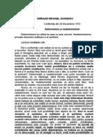 Determinism Si Nedeterminism - AIVANHOV