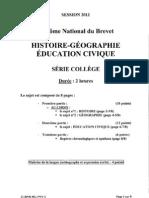 BREVET Histoire-Geographie 2011