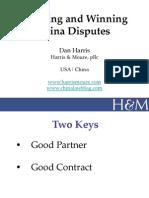 Dan Harris Avoiding and Winning China Disputes
