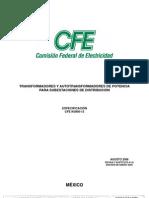 Cfe-k0000-13 Transform Adores y Auto Transform Adores de Potencia