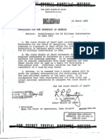 US Military National Security Document (unclassified)