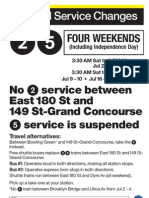 Subway Service Changes