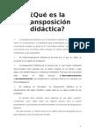 Qué es la transposición didáctica