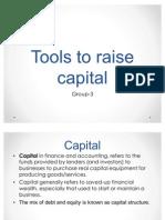 Tools to Raise Capital